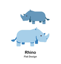 Rhino flat icon vector