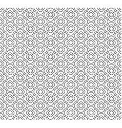 seamless geometric line pattern in arabian style vector image