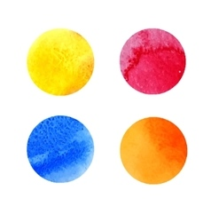 Set of colorful watercolor stains vector