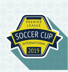 Soccer cup badge vector