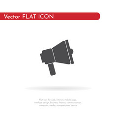 Speaker icon for web business finance and vector