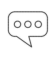 speech bubble message chat dialog communication vector image