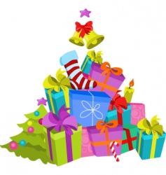 stack of presents vector image