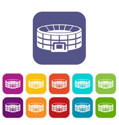 stadium icons set vector image vector image