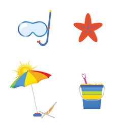 Summer icon art vector