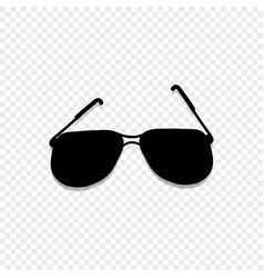 Sunglasses icon isolated on transparent background vector