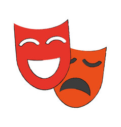 theater masks icon image vector image