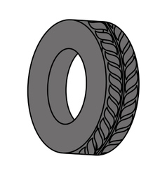 tire icon image vector image