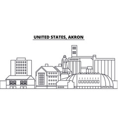 united states akron line skyline vector image