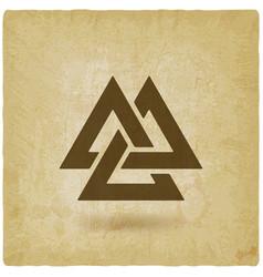 Valknut symbol interlocked triangles old vector