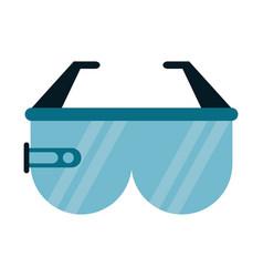 Virtual reality glasses smart vector