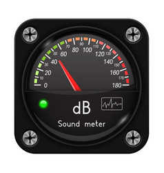 Volume unit meter sound audio equipment vector
