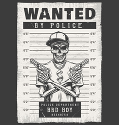 Wanted modern poster vector
