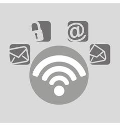 Wifi bubble speech social media vector