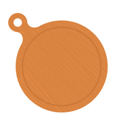 wooden round board flat icon isolated vector image