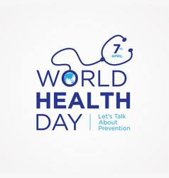 World health day quote vector
