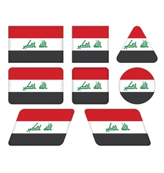 buttons with flag of Iraq vector image vector image