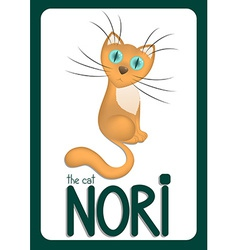 Cartoon cat Nori vector image vector image