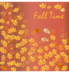 Autumn time seasonal banner vector image vector image