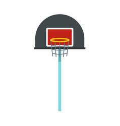 Basketball hoop icon flat style vector