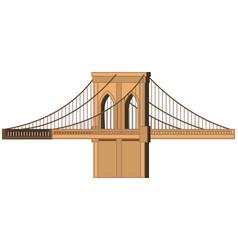 Big bridge on white background vector