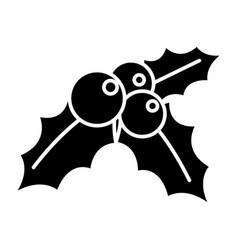 mistletoe - ornament - christmas icon vector image