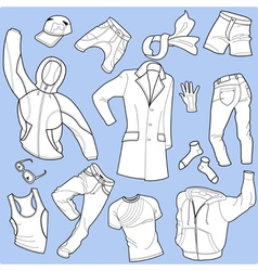 seamless background man clothes vector image vector image