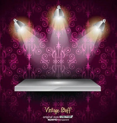Shelf with 3 LED spotlights vector image vector image