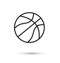 basketball icon on white bckground basketball vector image vector image
