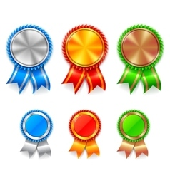 Color Award Medals vector image vector image