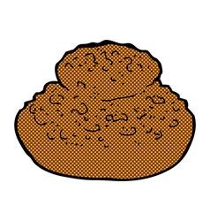 comic cartoon bread vector image