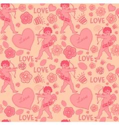 Cupid Love Pattern vector image vector image