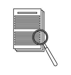 Document paper magnifier system search vector