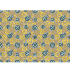 pattern made of gears vector image vector image