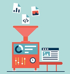 Process of creating site Process coding and vector image vector image