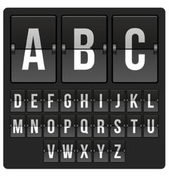 scoreboard with alphabet vector image