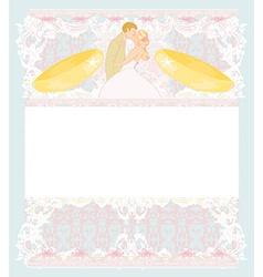 stylish wedding invitation card with vintage vector image