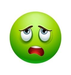 Tired emoticon vector
