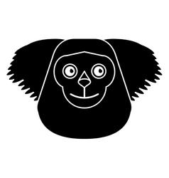Black bearded saki animal brazil pictogram vector