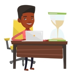 Business man working in office vector image