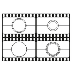Film countdown templates movie theater frame vector image