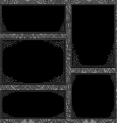 gothic frame set vector image vector image