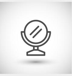 mirror line icon vector image