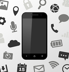 Smartphone applications vector image vector image