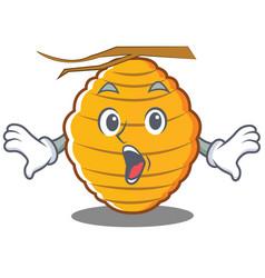Suprised bee hive character cartoon vector