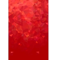 Abstract polygonal red geometric background Low vector image