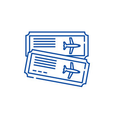 airline tickets line icon concept airline tickets vector image