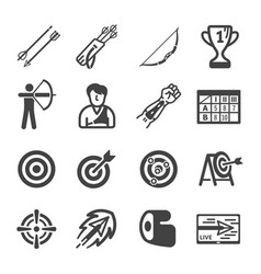 Archery icon vector