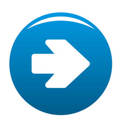 Arrow icon blue vector