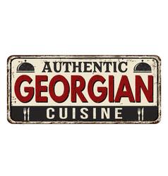 Authentic georgian cuisine vintage rusty metal vector